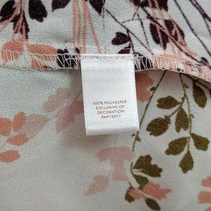 LC Lauren Conrad Tops - Lauren Conrad Square Neck Floral Peasant Top NWT